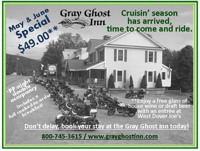 Gray Ghost Inn Special May June West Dover Vermont Dover